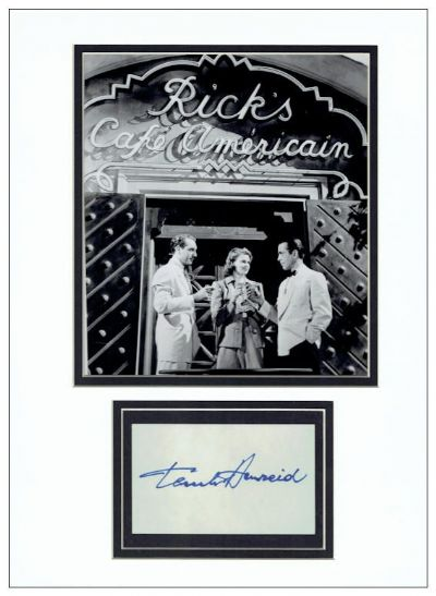 Paul Henreid Autograph Casablanca For Sale